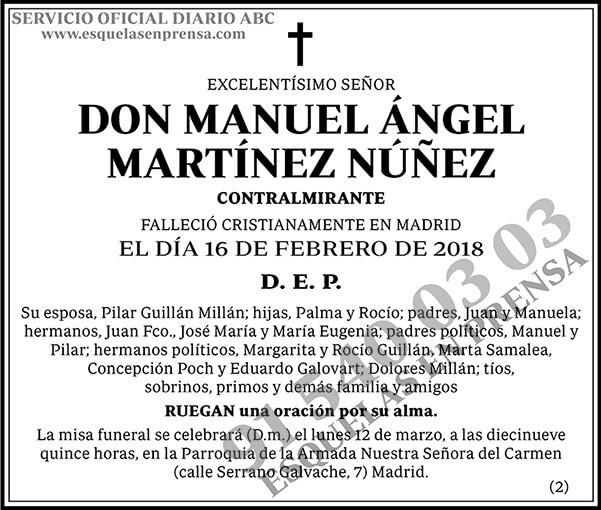 Manuel Ángel Martínez Núñez